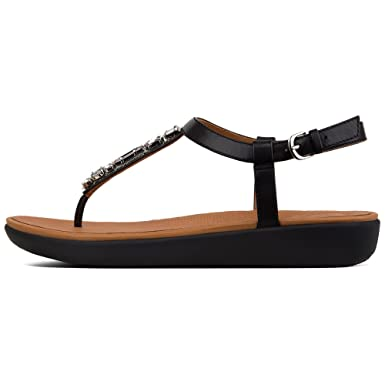 6ad18e2668a6 Amazon.com  FitFlop Tia Bejewelled Sandals - Black  Clothing