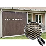 Alion Home Sun Shade Privacy Panel with Grommets on 2 Sides for Patio, Awning, Window, Pergola or Gazebo - Mocha Brown - Custom Sizes Availble (6' x 8')
