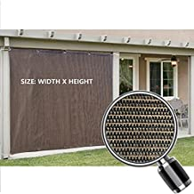 Alion Home Sun Shade Privacy Panel with Grommets on 2 Sides for Patio, Awning, Window, Pergola or Gazebo - Mocha Brown - Custom Sizes Availble (8' x 6')