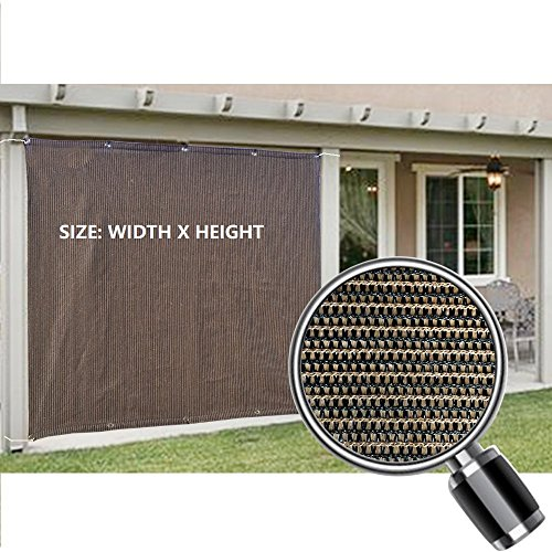 Alion Home Sun Shade Privacy Panel with Grommets on 2 Sides for Patio, Awning, Window, Pergola or Gazebo - Mocha Brown (6' x 6')