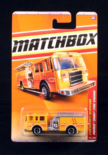 PIERCE DASH FIRE ENGINE * YELLOW * Emergency Response Series (#8 of 11) MATCHBOX 2011 Basic Die-Cast Vehicle (#56 of 100) -