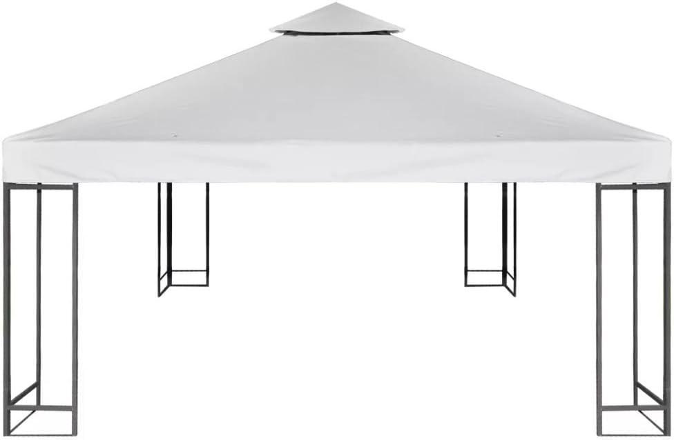 Gecheer Telo Impermeabile Ricambio per Gazebo 310g//m/² Bianco Crema 3x3m
