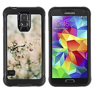 """Pulsar iFace Series Tpu silicona Carcasa Funda Case para Samsung Galaxy S5 V , Primavera Focus Campo Flor Flores Naturaleza"""""""