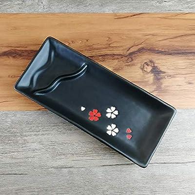 HVTKL Plato de cerámica Japonesa con Salsas y albóndigas fritos ...