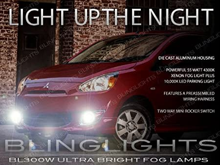com mitsubishi mirage xenon halogen com 2012 2013 2014 2015 mitsubishi mirage xenon halogen fog lamps driving lights kit automotive