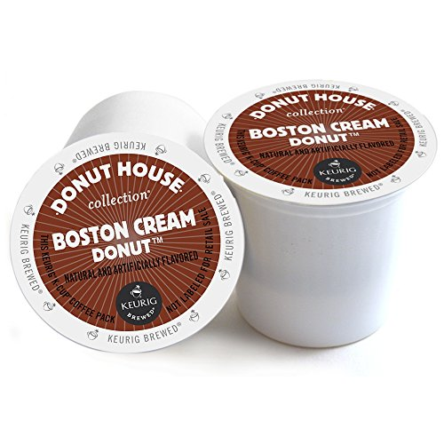 Donut House Boston Cream Donut Keurig 2.0 K-Cup Pack, 18 Count Boston Collection