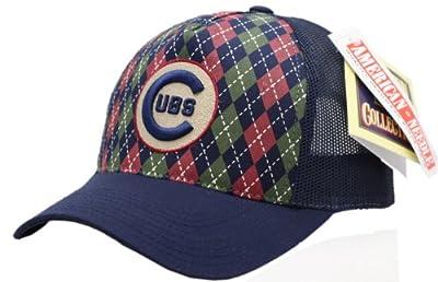 Chicago Cubs Argyle Mesh Snapback Cap