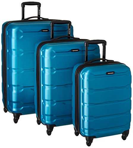 Samsonite 68311-2479 Omni PC Hardside Spinner  20 24 28,  Caribbean Blue,  3 Piece Set (Luggage Hardside Case)