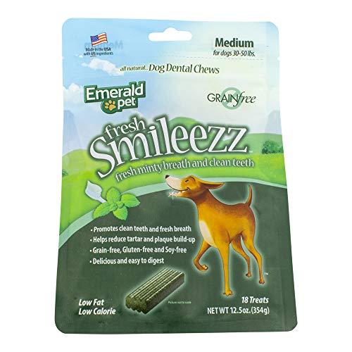 Fresh Smileezz Dog Grain Free Dental Treat Mint Medium 12.5Oz
