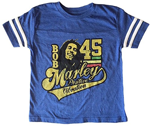 Zion Rootswear Bob Marley Little Boys 45 Athletic Toddler T-Shirt, 4T (Bob Marley T-shirt Jersey)