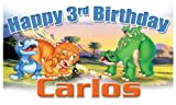 Cheap Land Before Time Birthday Banner 3ft X 21 in. – Customize