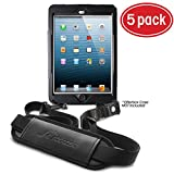 rooCASE 5-Pack Utility Sleeve Case with Breakaway Safety Carrying Strap for OtterBox Defender iPad Mini 1/2/3 Series, Black