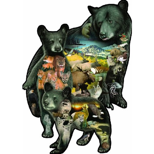 SunsOut Bear-ly There Shaped 1000 Piece Jigsaw Puzzle