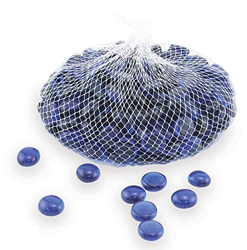 - Down To Earth Cobalt Blue Glass Gems - For Vase Fillers or Ponds, 2 lbs