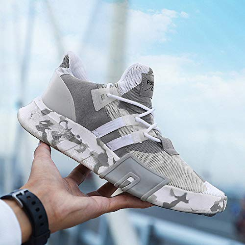 Breathable White Unisex Walking Sport Knit Grey Black Running Ceyue Women's Men's Lightweight Casual Sneaker Athletic Shoes 1qH6Y