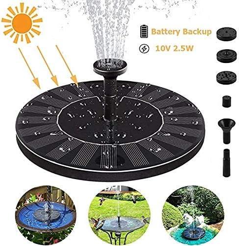 LQUIDE Alimentadores de pájaros Decorativos de rociadores de jardín de Estanque Circular, Bomba de Fuente Solar