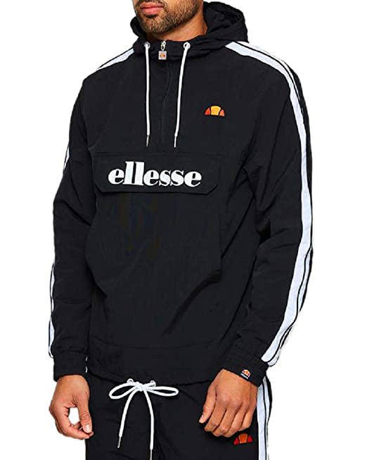 aaa276a1fa Ellesse Men's Fighter 1/2 Zip Track Jacket, Black, XL: Amazon.ca ...