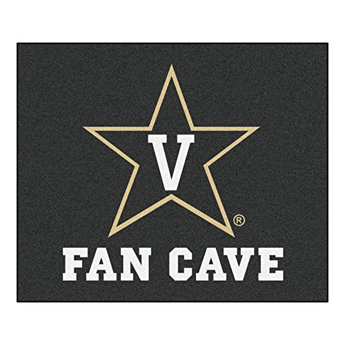NCAA Vanderbilt University Man Cave Tailgater Rug, 60'' x 72''/Small, Black by Fanmats