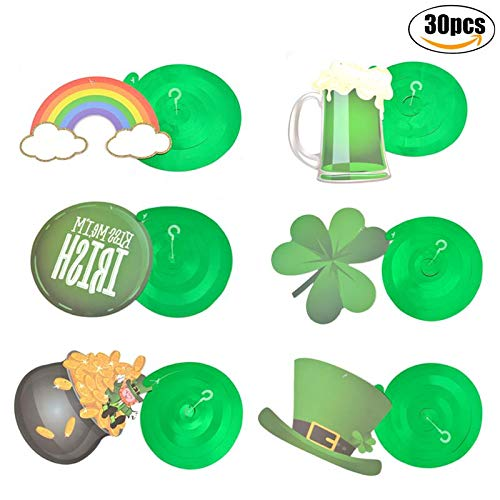 Party DIY Decorations - 30pcs Set Party Swirl Shamrock Hat Flag Cutouts Ornament Plastic Hanging Decor Lucky 39 S Day - Party Decorations Party Decorations Shamrock Chick Easter Elena Brother Gi