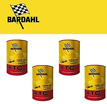 4 litros de aceite motor para coche Bardahl XTC C60 10W40 Polar Plus ...