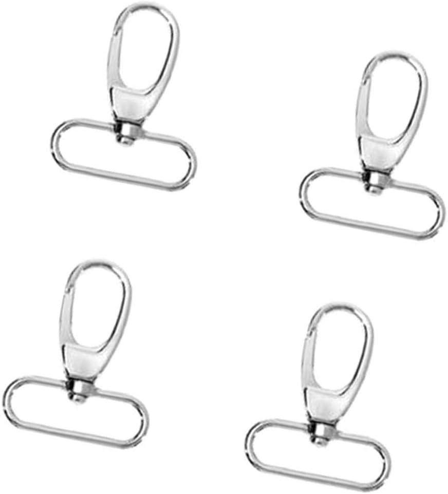Argent Sharplace 4X Porte Cl/é Mousqueton Pivotants Fermoir Accessoire de Mode Bijoux de Sport de Bricolage 55mm Diam/ètre 38mm