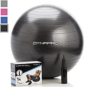 DynaPro Direct Exercise Ball with Pump - Black