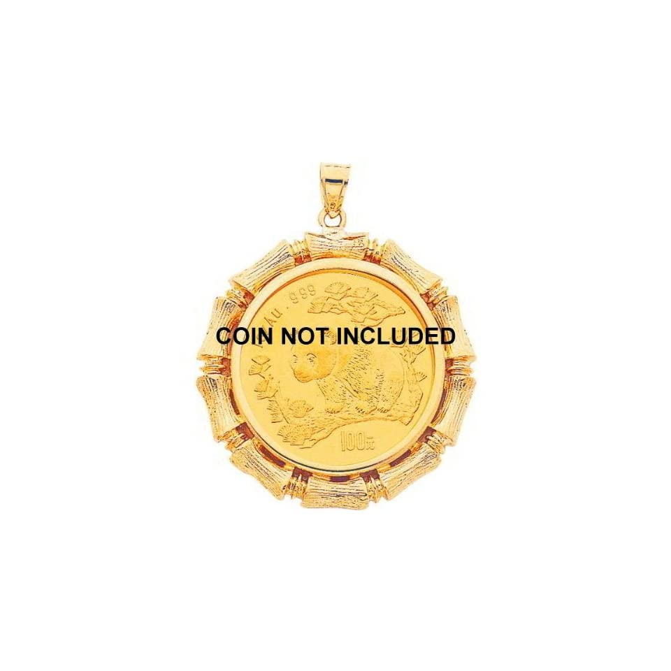 14K Yellow Gold Bezel for 1oz Chinese Panda Coin G