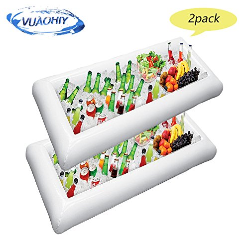 Inflatable Serving Salad Bar Tray Food Drink Containers