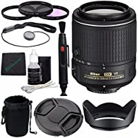 Nikon AF-S DX NIKKOR 55-200mm f/4-5.6G ED VR II Lens + 52mm 3 Piece Filter Set (UV, CPL, FL) + Lens Cap + Lens Hood + Lens Cleaning Pen Bundle