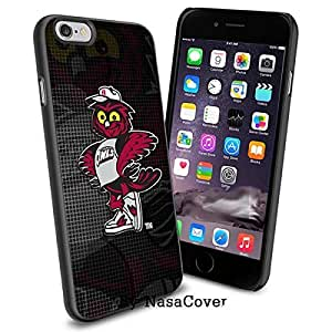 (Available for iPhone 4,4s,5,5s,6,6Plus) NCAA University sport Temple Owls , Cool iPhone 4 5 or 6 Smartphone Case Cover Collector iPhone TPU Rubber Case Black [By Lucky9Cover]
