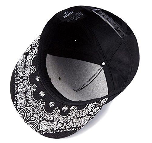 Accesorio Plano Ajustable Béisbol de Snapback Hombres Sombrero Negro Moda Mujeres Aivtalk Gorra cwBHAzqwF