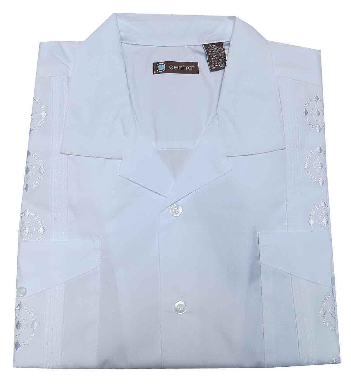 Guayabera Embroidered Poly Cotton Shirt
