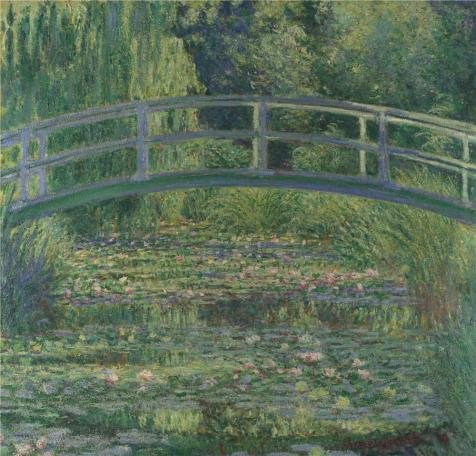 Oil Painting 'Claude-Oscar Monet - The Water-Lily Pond,1899' Printing On Perfect Effect Canvas , 18x19 Inch / 46x48 Cm ,the Best Home Theater Artwork And Home Gallery Art And Gifts Is This Amazing Art Decorative Prints On Canvas
