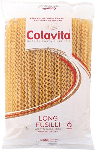 Colavita Long Fusilli (Col Buco) Pasta, 1 Pound (Pack of 12) ()