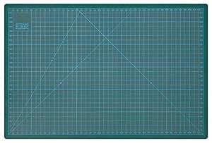 Wedo 079145 - Base para corte CM 45, 450 x 300 x 3 mm, verde