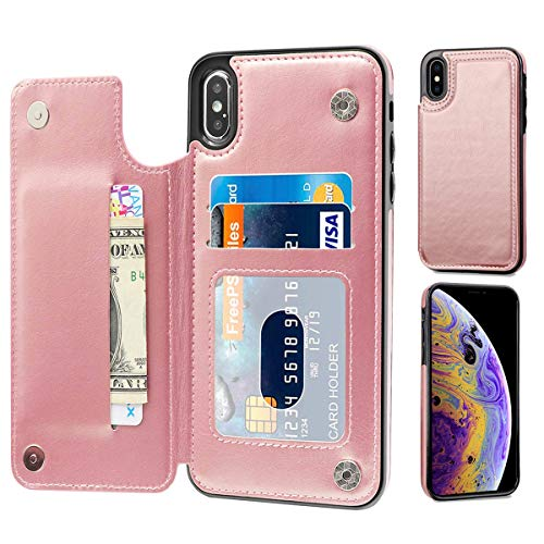 CreaDream Wallet Case for iPhone Xs Max 6.5inch, Premium PU Leather with Card Holder, Double Magnetic Clasp and Durable Shockproof Cover for iPhone Xs Max 6.5