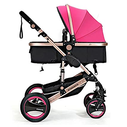 wisesonle ruedas traseras inflables no necesito cochecito 2016 bebé cochecito sistema de viaje con Moisés tamaño