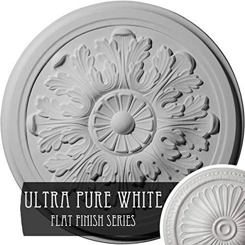 Ekena Millwork CM12LEUWF Legacy Acanthus Ceiling Medallion, Ultra Pure White