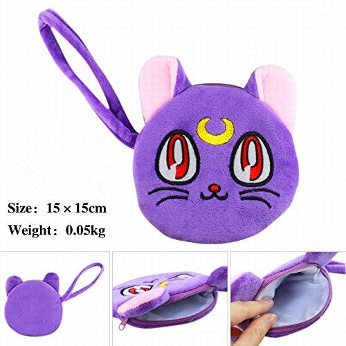 Sailor Moon Luna Cat Plush Mini Bag Cellphone Purse Hand Strap