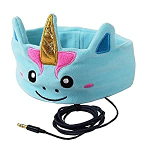 CozyPhones Kids Headphones Volume Limited with Ultra-Thin Speakers Soft Fleece Headband – Perfect Children's Earphones for School, Home and Travel – Mystic Unicorn