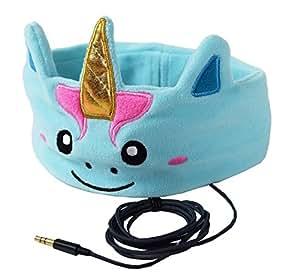 CozyPhones Kids Headphones Volume Limited with Ultra-Thin Speakers & Super Comfortable Soft Fleece Headband - Perfect Children's Earphones for Home and Travel - MYSTIC UNICORN