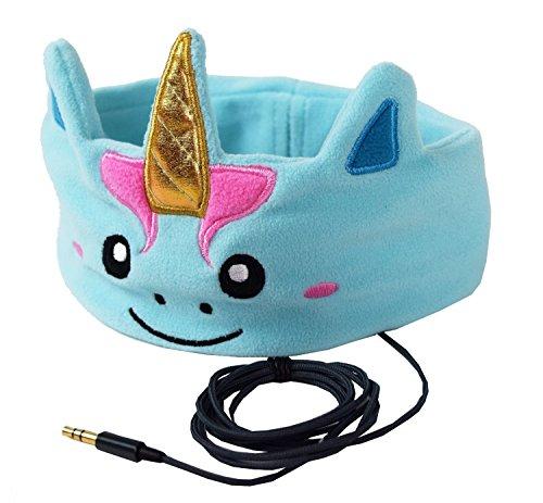 CozyPhones Kids Headphones Volume Limited with Ultra-Thin Speakers & Super Comfortable Soft Fleece Headband – Perfect Children's Earphones for School, Home and Travel – MYSTIC UNICORN