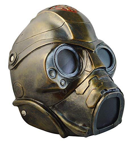 Gmasking Resin Fallout Nova Cospaly Mask 1:1 Replica+Gmask Keychain Bronze