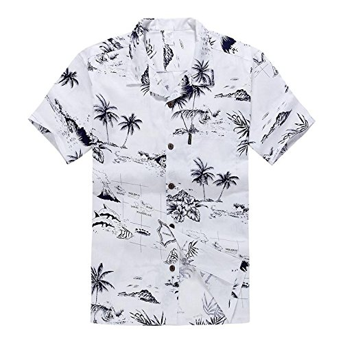 Palm Wave White Map X-Large