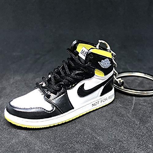 Air Jordan 1 I High Retro NRG Not For Resale Yellow OG Sneakers Shoes 3D Keychain Figure