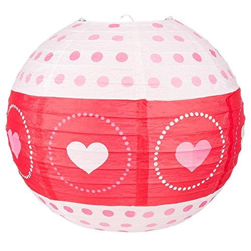 PaperLanternStorecom-14-Red-White-Valentines-Day-Heart-Paper-Lantern-Even-Ribbing-Hanging-Decoration
