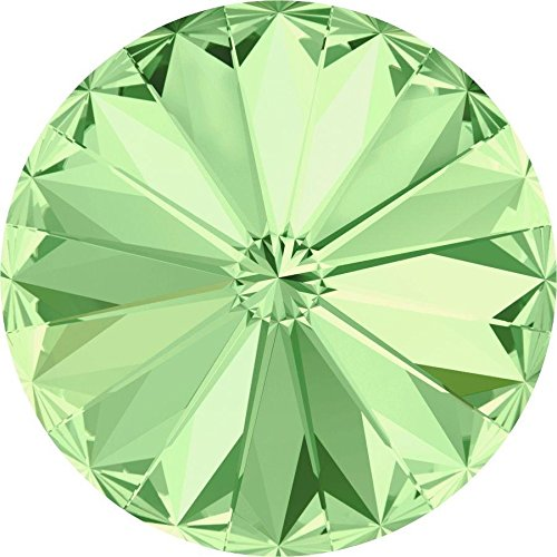 1122 Swarovski Chatons & Round Stones Rivoli Chrysolite | 12mm - Pack of 4 | Small & Wholesale (Chrysolite Pack)