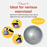 PRIMASOLE Exercise Ball (25.6 inch) for