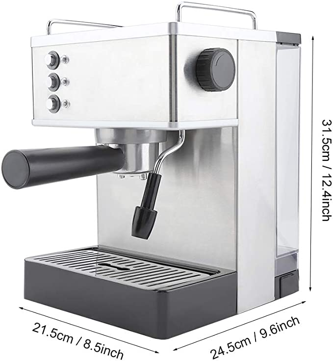 Cafeteras, Cafetera espresso de acero inoxidable 2.2L Cafetera Bomba Italia de alta presión(UE): Amazon.es: Hogar