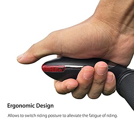 Warning Reminding Others of Your Riding Range. Waterproof PRUNUS LED Biking Handlebar Ends 1 Year Standby Time and Long Battery Life with The Function of Turning Signal Indication